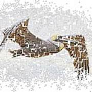 Pixel Pelicano Art Print