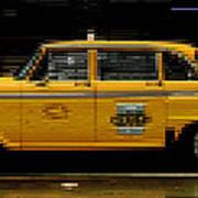 Pixel Taxi Art Print