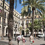 Placa Reial Barcelona Spain Art Print