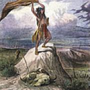 Plains Native American: Signal, 1873 Art Print