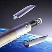 Planck And Herschel Launch, Artwork Art Print by David Ducros