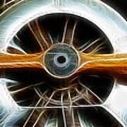 Plane Wood And Chrome Art Print