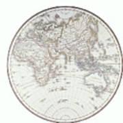 Planispheric Map Of The Eastern Hemisphere Art Print by Fototeca Storica Nazionale