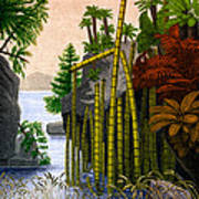 Plants Of The Triassic Period Art Print