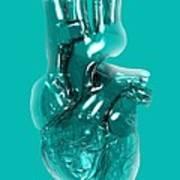 Plastic Artificial Heart, Artwork Art Print