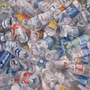 Plastic Bottles Art Print