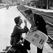 Platform Cigarette Art Print by Kurt Hutton