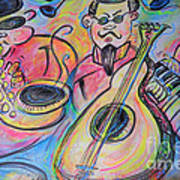 Play The Blues Art Print by M C Sturman