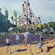 Playground Art Print by Andrew Macara