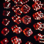 Playing Dice Being Rolled Art Print