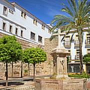 Plaza De La Iglesia In Marbella Art Print