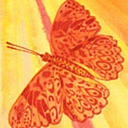 Pleasure Butterfly Art Print