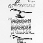Plow Advertisement, C1890 Art Print