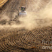 Plowing The Ground Art Print by Mike  Dawson