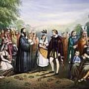 Pocahontas & John Rolfe Art Print