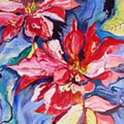 Poinsettia Color Art Print