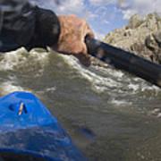 Point Of View White Water Kayaking Art Print