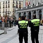 Policia Madrid Art Print