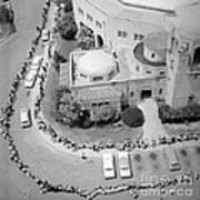 Polio Immunization, Aerial View, 1962 Art Print