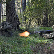Polish Soldiers Engage In Simulated Art Print