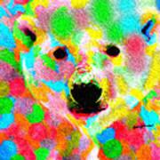 Polychromatic Polar Bear Art Print
