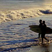 Ponquogue Surfers Art Print