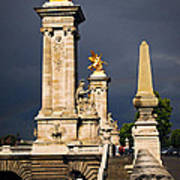 Pont Alexander IIi In Paris Before Storm Print by Elena Elisseeva