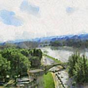 Pont De St Benezet - Avignon Art Print