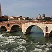 Ponte Pietra Art Print