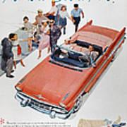 Pontiac Advertisement 1957 Art Print