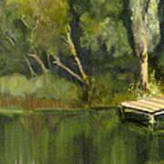 Pontoon Pond Art Print