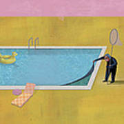 Pool Animal 01 Art Print by Dennis Wunsch