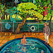 Pool At Upsal Gardens Art Print