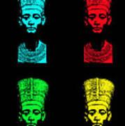 Pop Nefertiti Art Print