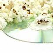Popcorn And Movie  Art Print