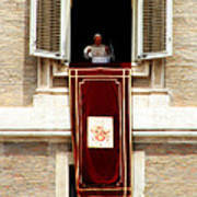 Pope Benedict Xvi B Art Print by Andrew Fare