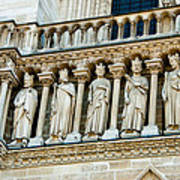 Popes At Notre Dame Cathedral Art Print