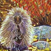 Porcupine On The Trail Art Print by Harriet Peck Taylor