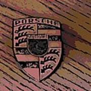 Porsche On Wood Art Print