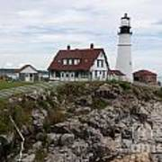 Portland Head Light Cape Elizabeth Fort Williams Maine Art Print