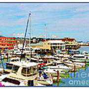 Portland Maine Harbor Art Print