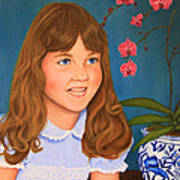 Portrail Of A Young Girl Art Print