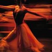 Portrait Of A Ballet Dancer Bathed Print by Michael Nichols