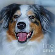 Portrait Of A Dog Lady Art Print