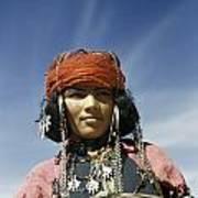 Portrait Of A Nomadic North African Art Print by Maynard Owen Williams