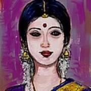 Portrait Of An Indian Woman Art Print