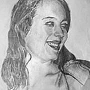 portrait of Angela Art Print
