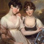 Portrait Of Anne And Maria Russell Art Print