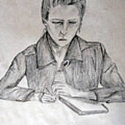 Portrait Of Haley Golz Art Print