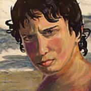 Portrait Of Jodediah Holems Art Print